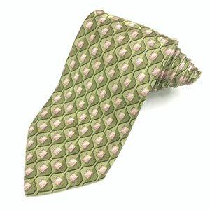 Ermenegildo Zegna Geometric 100% Silk Tie.